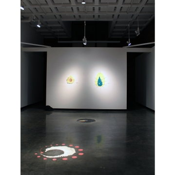 """With a drop of paint"" Installation view: 3"
